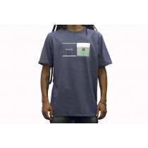 Camiseta Hurley Silk Breaking Point Azul Mescla